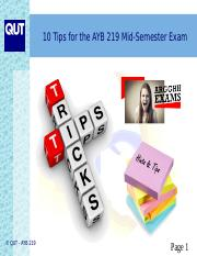 10 Tips for the AYB 219 Mid-Semester Exam.ppt