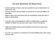 Topic 2b Introduction to Oil Base Mud