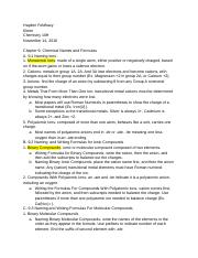 Pearson Chemistry Chapter 9 Chemical Names and Formulas Outline