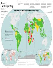 FAO hunger map 2015