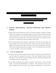 Private Information review study guide