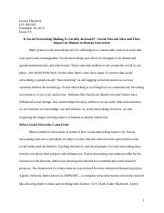 Social Networking Final Paper