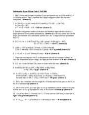Exam 3 Solutions-2008