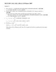 Winter 2007 Midterm Solution