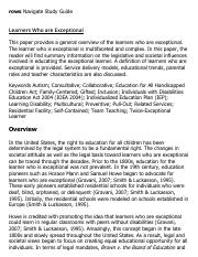 Learners Who are Exceptional Research Paper Starter - eNotes.pdf