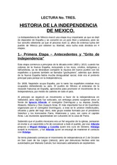 1. LECTURA 1 INDEPENDENCIA DE MEXICO