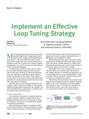 Implement an Effective Control Loop Tuning Strategy