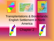 Chapter 2 - Southern, Middle, and New England Colonies
