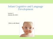 1-26 Infant cognition and language