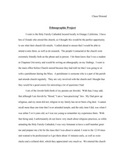 ANTH 102 - Cultural Anthropology - Religion paper final draft