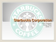 Starbucks CorporationFINAL PPT