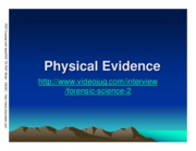 CHEM 207 - Chapter #3 - Physical Evidence