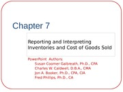 Chapter 7-Reporting and Interpreting Inventories and COGS