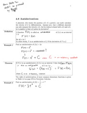 4.8 Section Notes_ Antiderivative