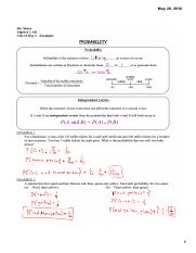 A2AB 14.1 Examples - probability
