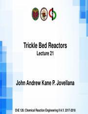 4 03 Trickle Bed Reactors pdf - Trickle Bed Reactors Lecture