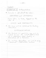 notes on 3.1- differentiation