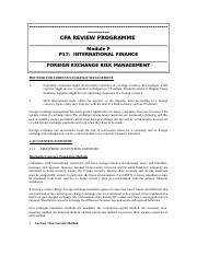 PRIVATE_-_P17_FOREIGN_EXCHANGE_RISK_MGT.doc