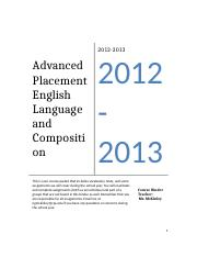 AP Language Curriculum _Syllabus to be revised_.docx