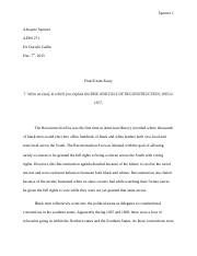 pas california state university northridge course hero 4 pages reconstruction era essay