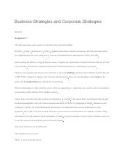 1 Business Strategies and Corporate Strategies.docx