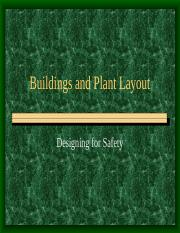 buildings and Plant Layout