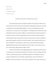 DNA and the Criminal Justice System.docx
