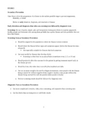 Prevention 2 Notes