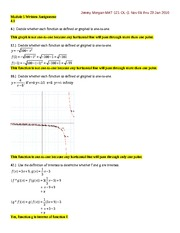 MATH 121 - WRITTEN EXERCISES-MODULE 5