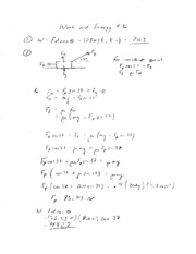Work and Energy Worksheet 2 Solutions