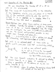 PHYS 142 Geometry of the Feasible Set Notes