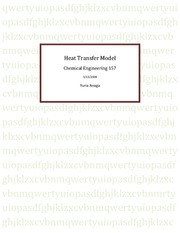HEAT TRANSFER MODEL REPORT