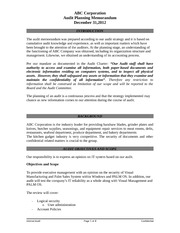 Group 7 Audit Planning Memo