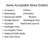 Some Acceptable News Outlets (2)
