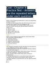 Cost - Chapter 8 Practice Test.docx