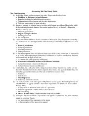 ACCT 304 Final Study Guide