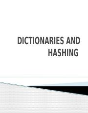 Class 6-dictionaries and hashing