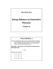 Lecture 10 - Energy Balances on Nonreactive Processes