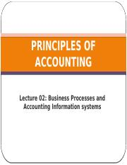 PRINCIPLES OF ACCOUNTING 2101 LECTURE 02 VF