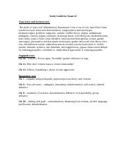 Psyc 391 Exam 2 Study Guide.doc