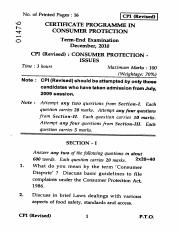 (www.entrance-exam.net)-IGNOU Consumer Protection - Issues and Acts Sample Paper 2