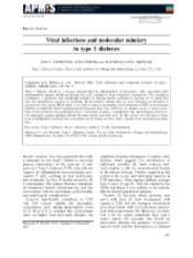 Viruses and molecular mimicry in t1d