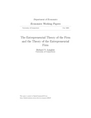 The Entrepreneurial Theory of the Firm