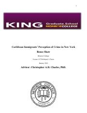 2012_Caribbean Immigrants' Perception of Crime in New York