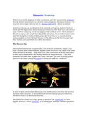 Why Dinosaur classification is Bird-hipped