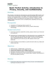 finished Neehr+Perfect+EHR+Activity-Intro+Privacy+Security+Confidentiality+v6.docx