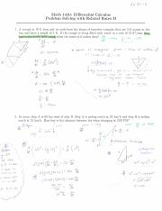 Differential Calculus Problem Solving with Related Rates Part 1