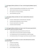 The Tragedy of Romoe and Juliet Act (V) WorkSheet.docx