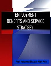 HRM 660_Benefits and Service Stratgey_1.ppt
