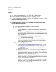 GG354 The Canadian North exam notes